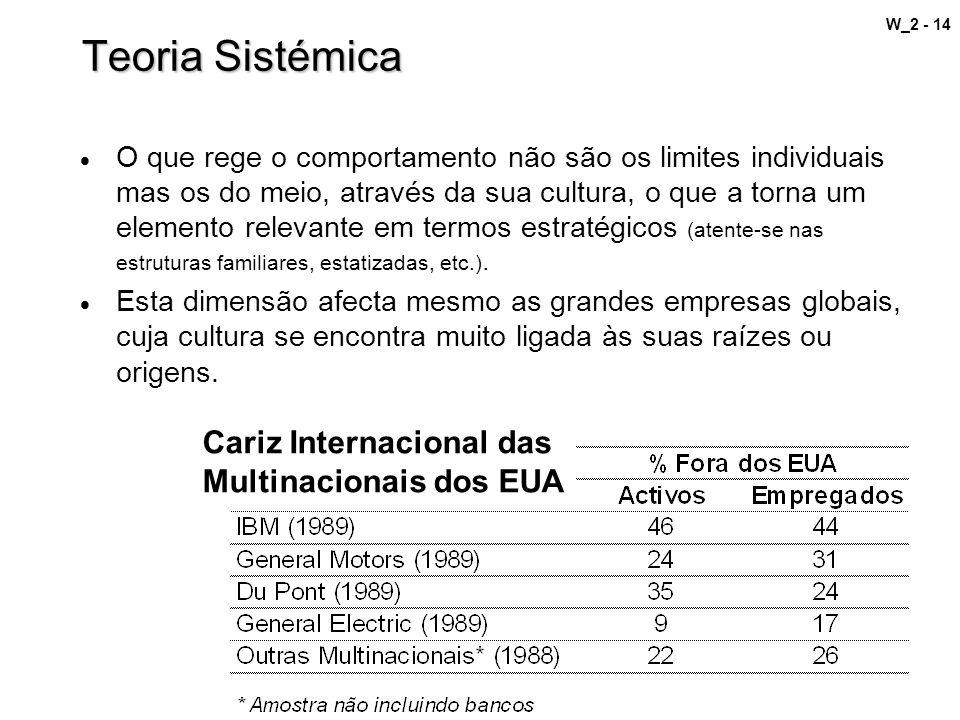 Teoria Sistémica Cariz Internacional das Multinacionais dos EUA
