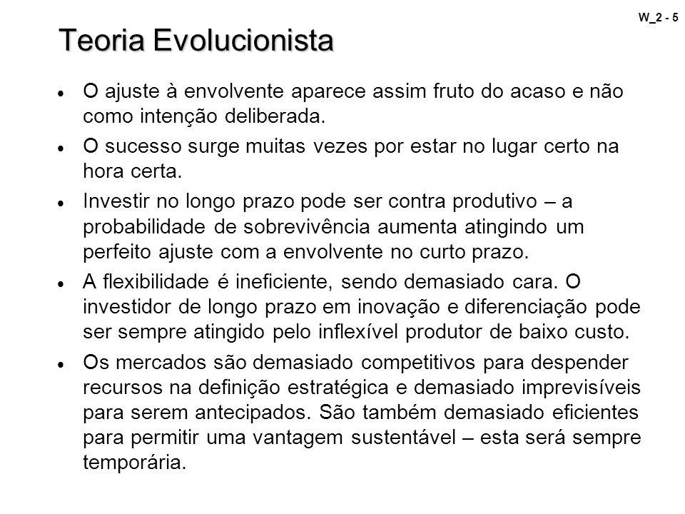Teoria Evolucionista O ajuste à envolvente aparece assim fruto do acaso e não como intenção deliberada.
