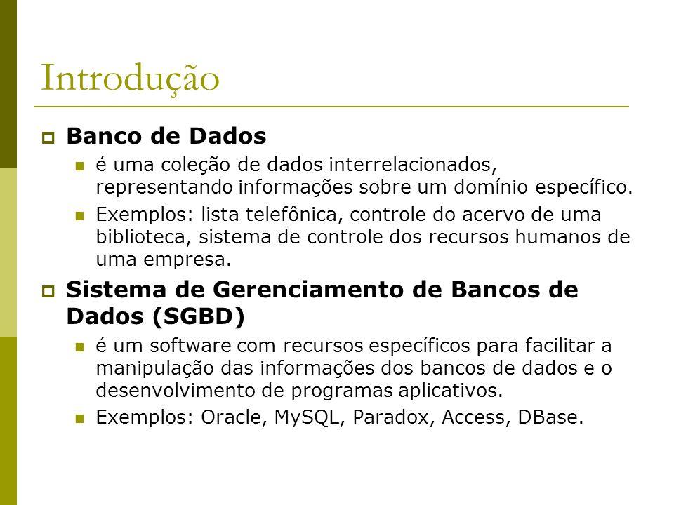 Introdução Banco de Dados