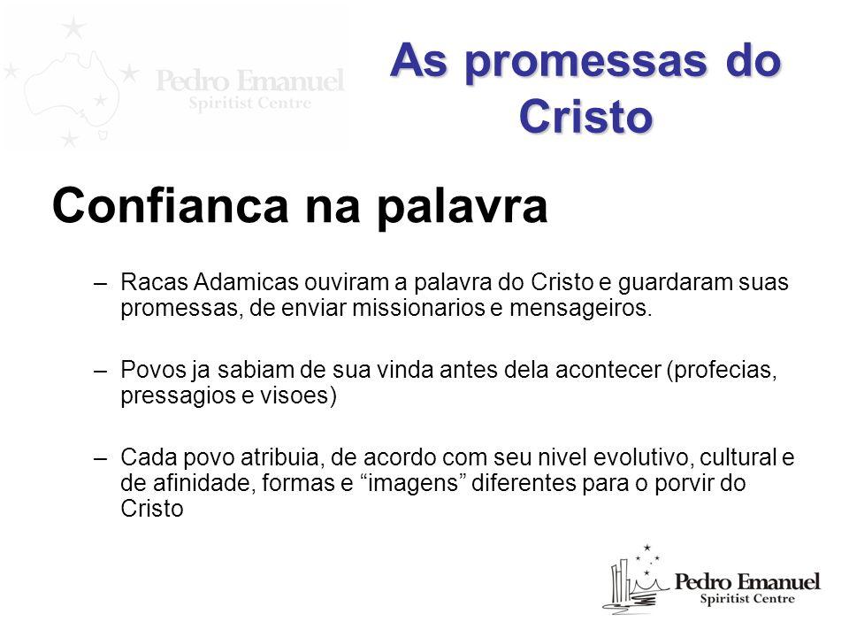 Confianca na palavra As promessas do Cristo