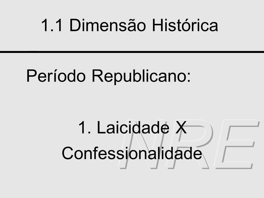 1. Laicidade X Confessionalidade