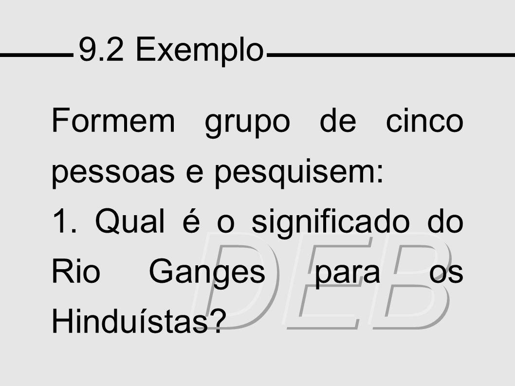 DEB 9.2 Exemplo Formem grupo de cinco pessoas e pesquisem: