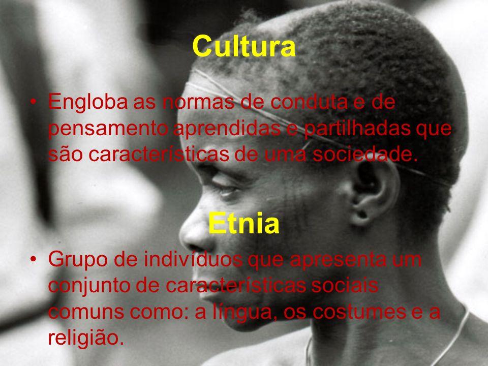 Cultura Engloba as normas de conduta e de pensamento aprendidas e partilhadas que são características de uma sociedade.