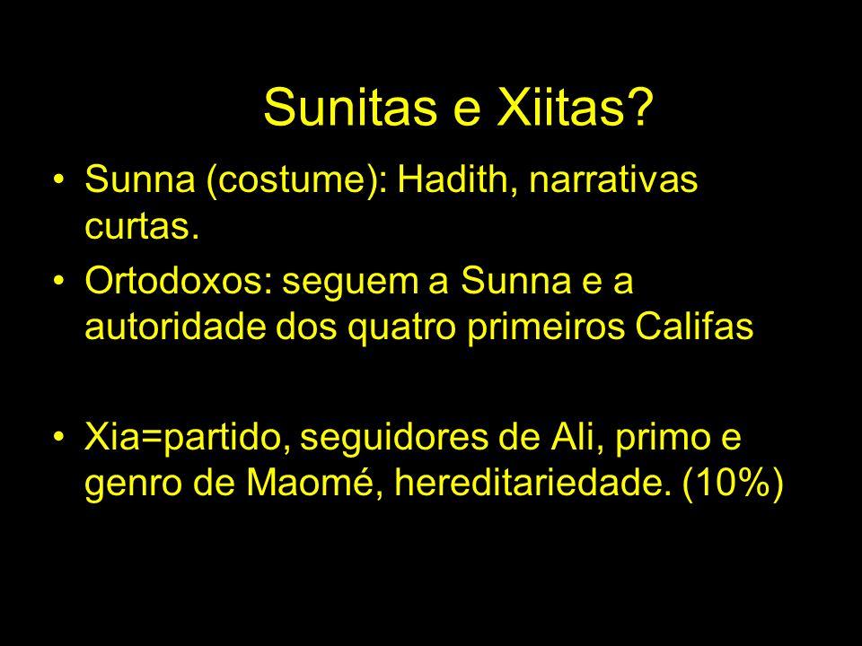 Sunitas e Xiitas Sunna (costume): Hadith, narrativas curtas.