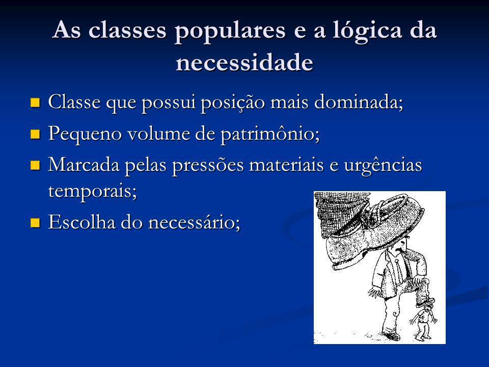 As classes populares e a lógica da necessidade