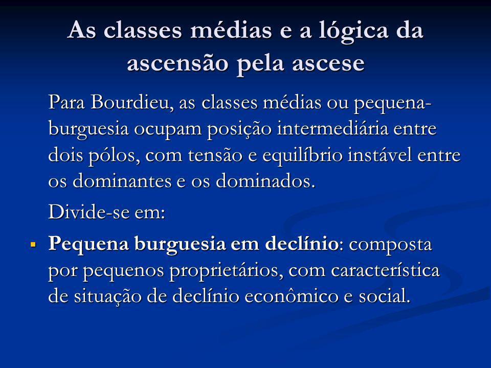 As classes médias e a lógica da ascensão pela ascese