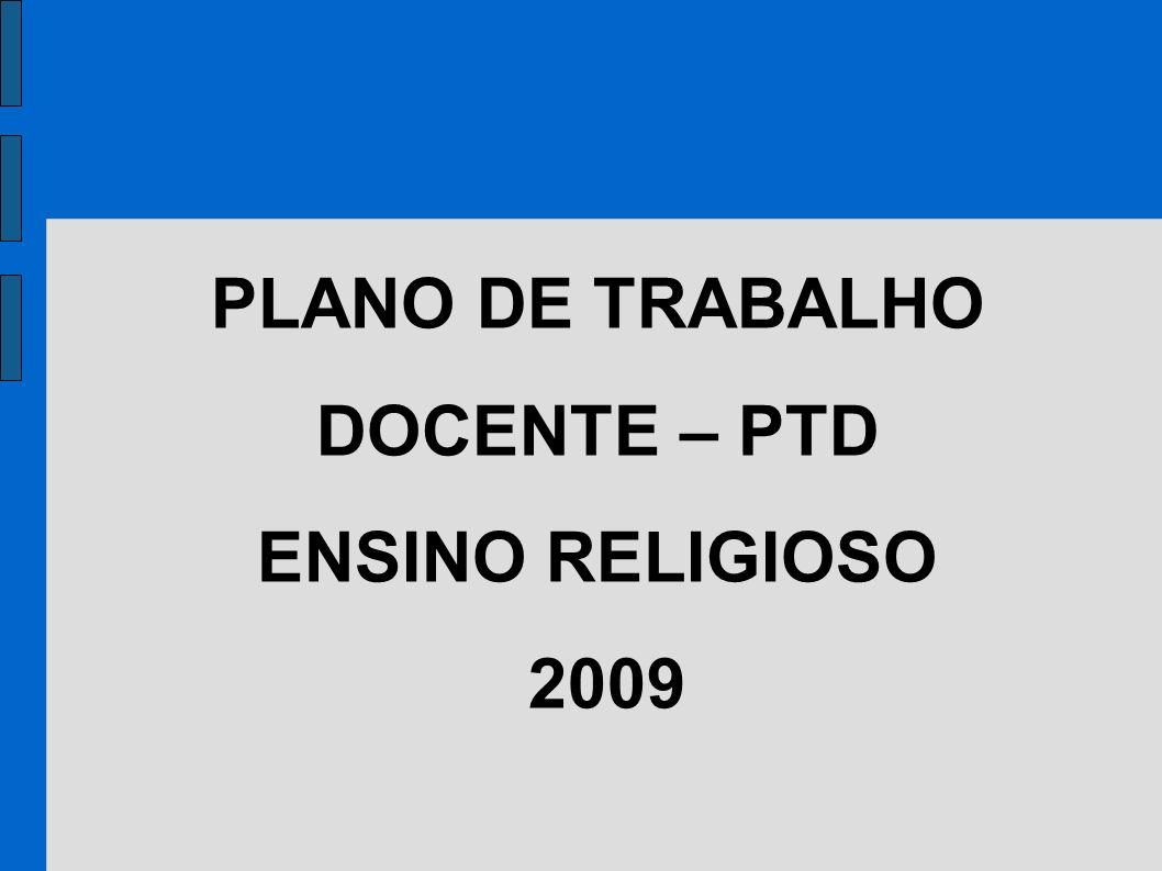 PLANO DE TRABALHO DOCENTE – PTD