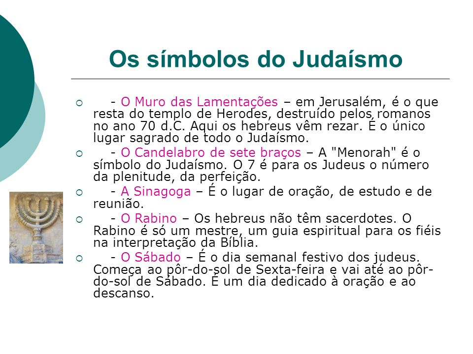 Os símbolos do Judaísmo