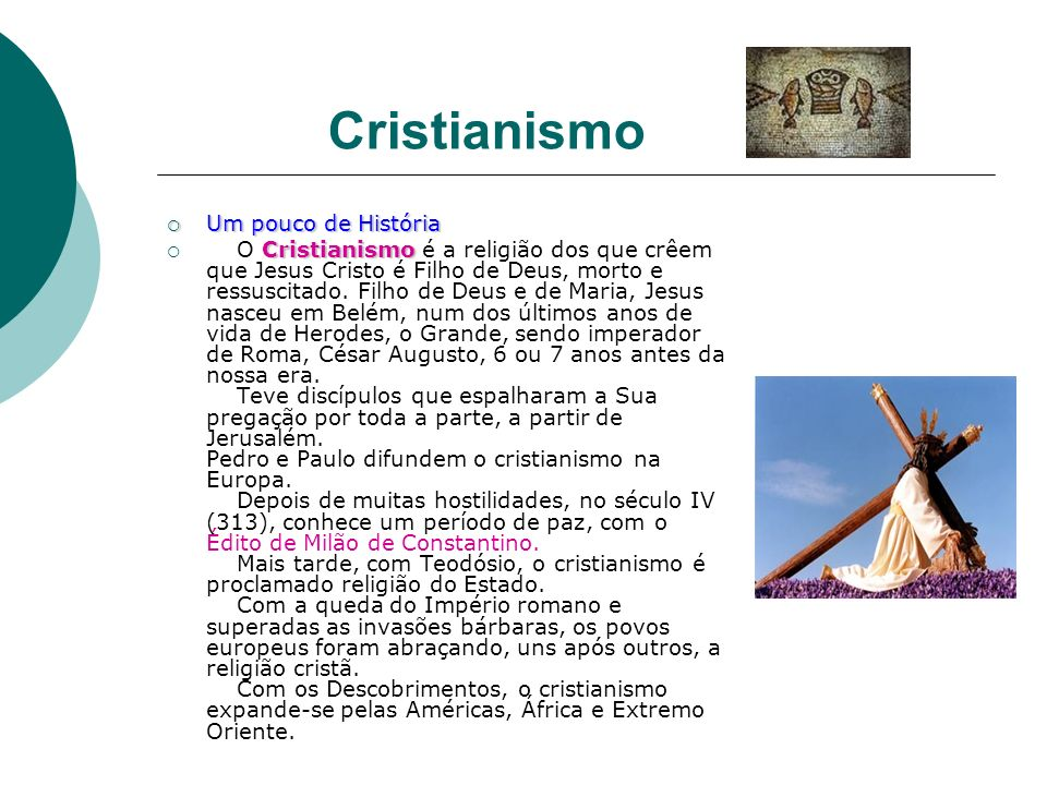 Cristianismo Um pouco de História