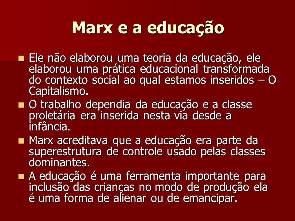 Marx e a educação