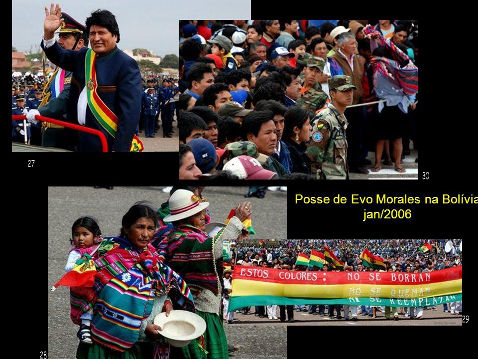 Posse de Evo Morales na Bolívia