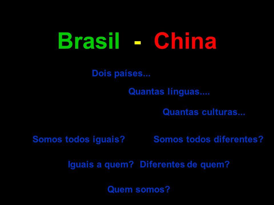 Brasil - China Dois países... Quantas línguas.... Quantas culturas...