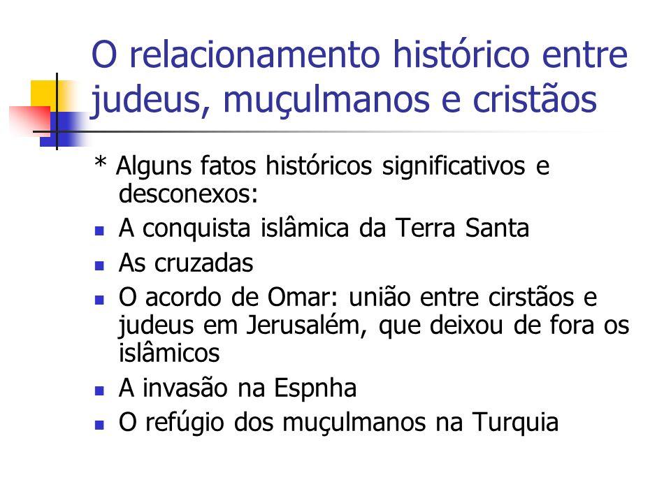 O relacionamento histórico entre judeus, muçulmanos e cristãos