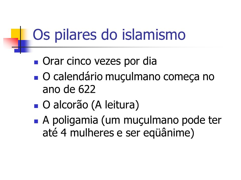 Os pilares do islamismo