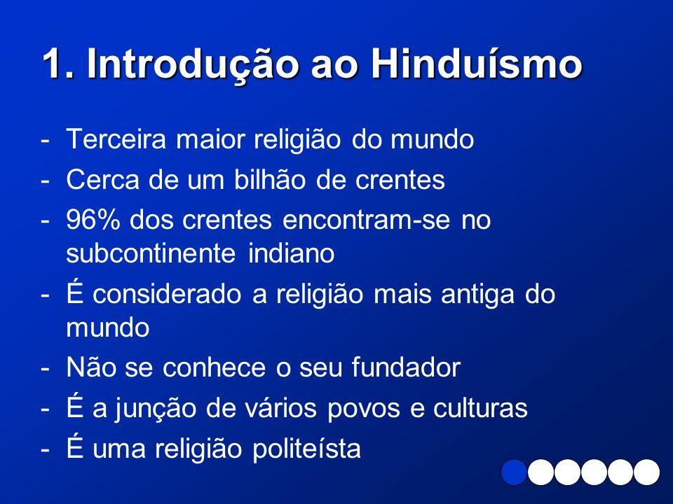 1. Introdução ao Hinduísmo