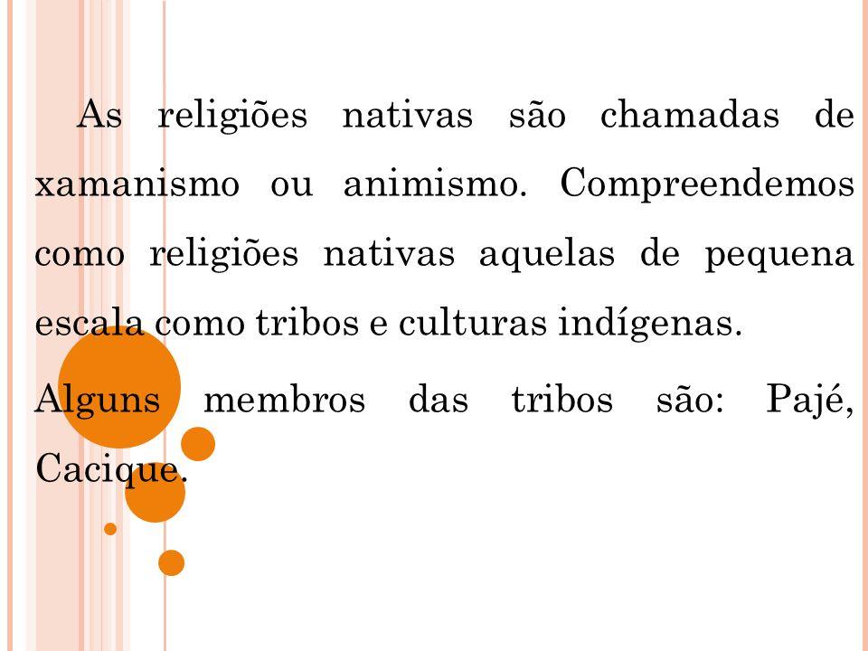 As religiões nativas são chamadas de xamanismo ou animismo