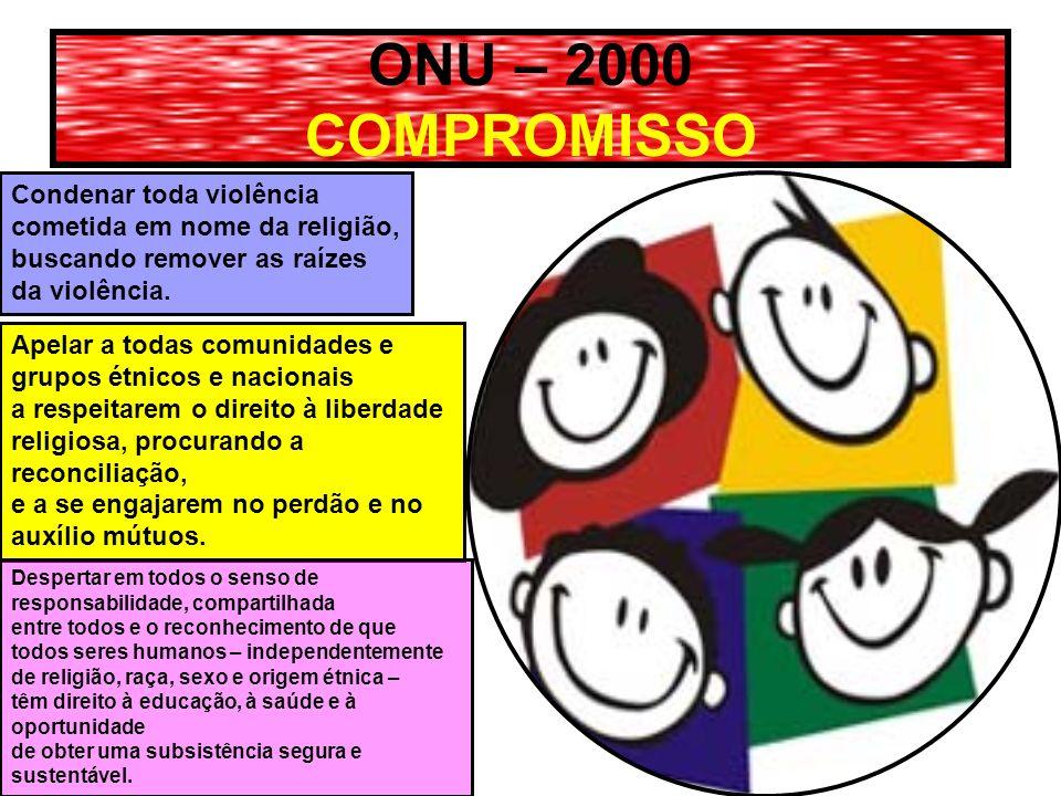 ONU – 2000 COMPROMISSO Condenar toda violência