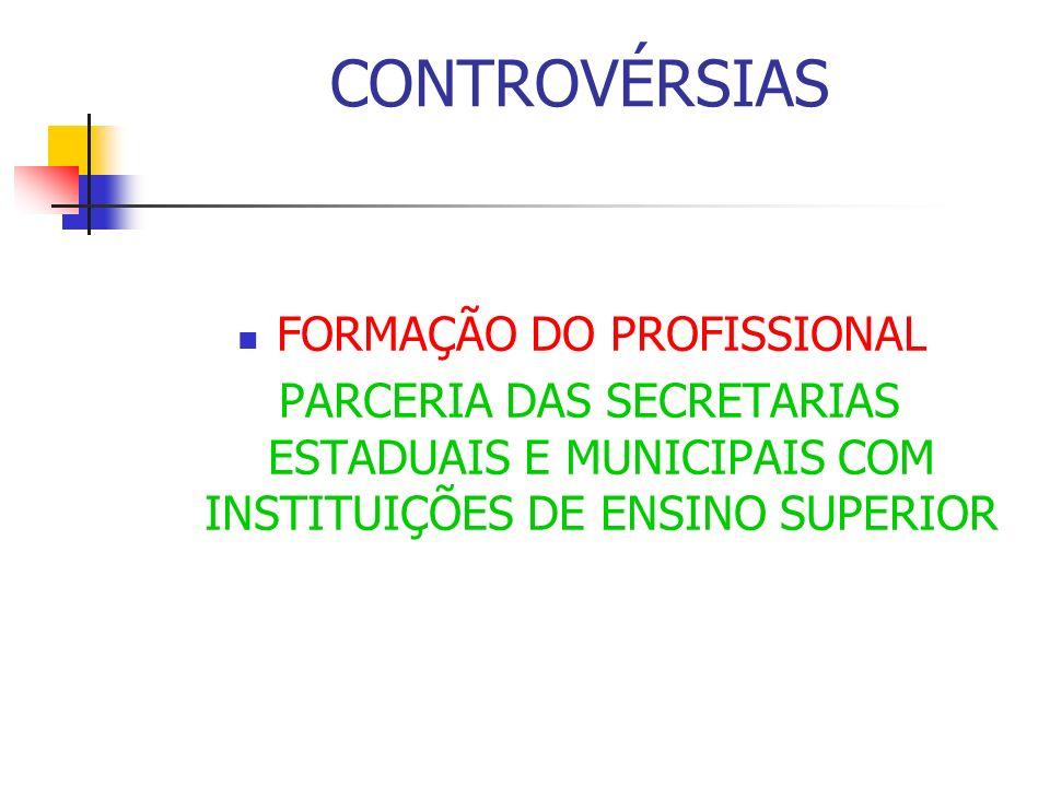 FORMAÇÃO DO PROFISSIONAL