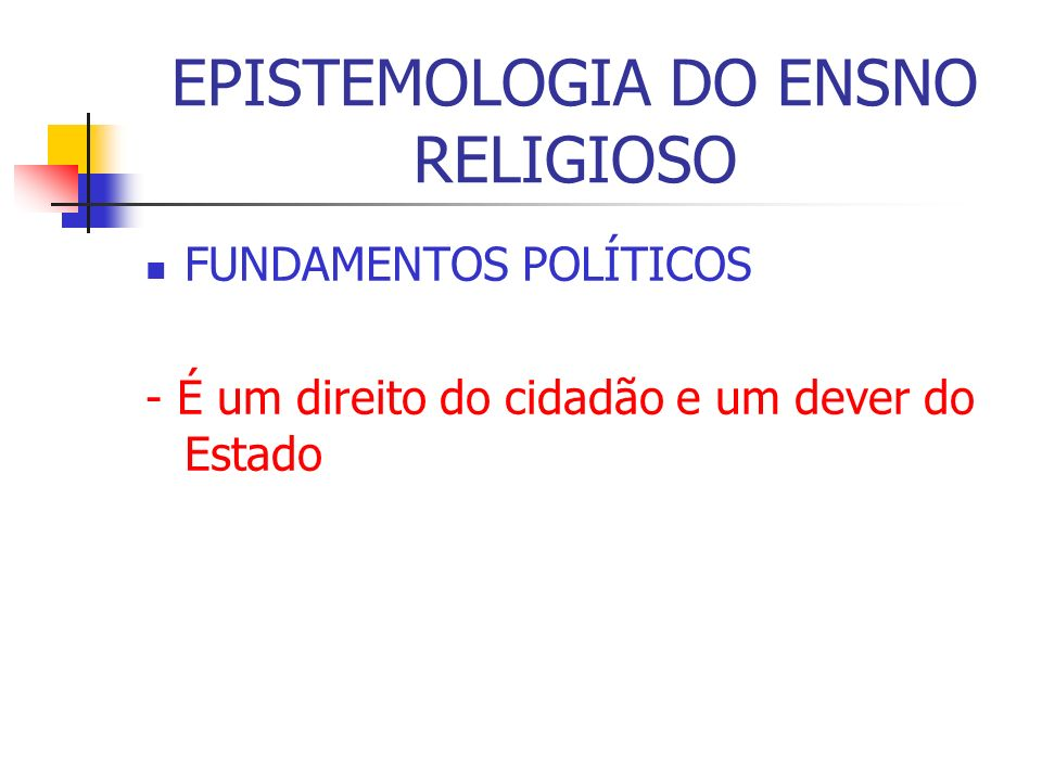 EPISTEMOLOGIA DO ENSNO RELIGIOSO