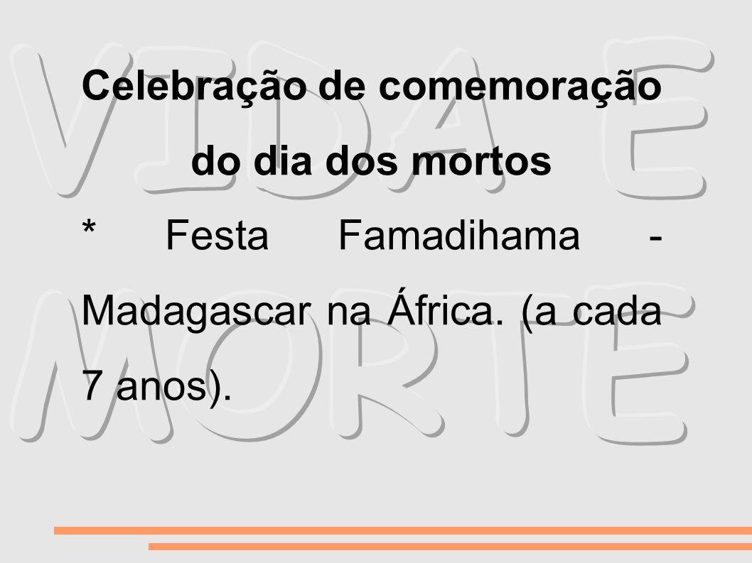 Celebração de comemoração do dia dos mortos