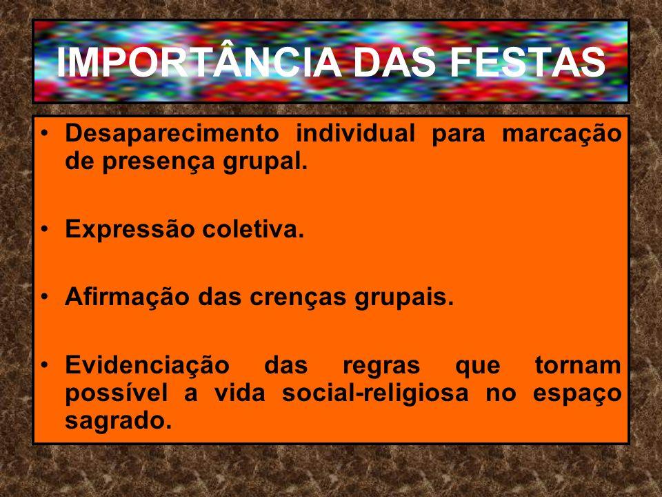 IMPORTÂNCIA DAS FESTAS
