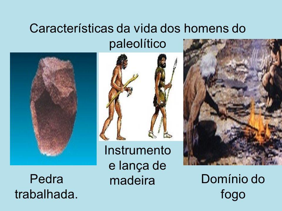 Características da vida dos homens do paleolítico