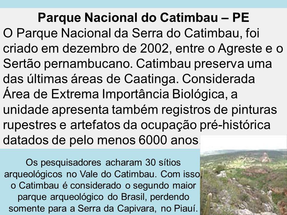 Parque Nacional do Catimbau – PE