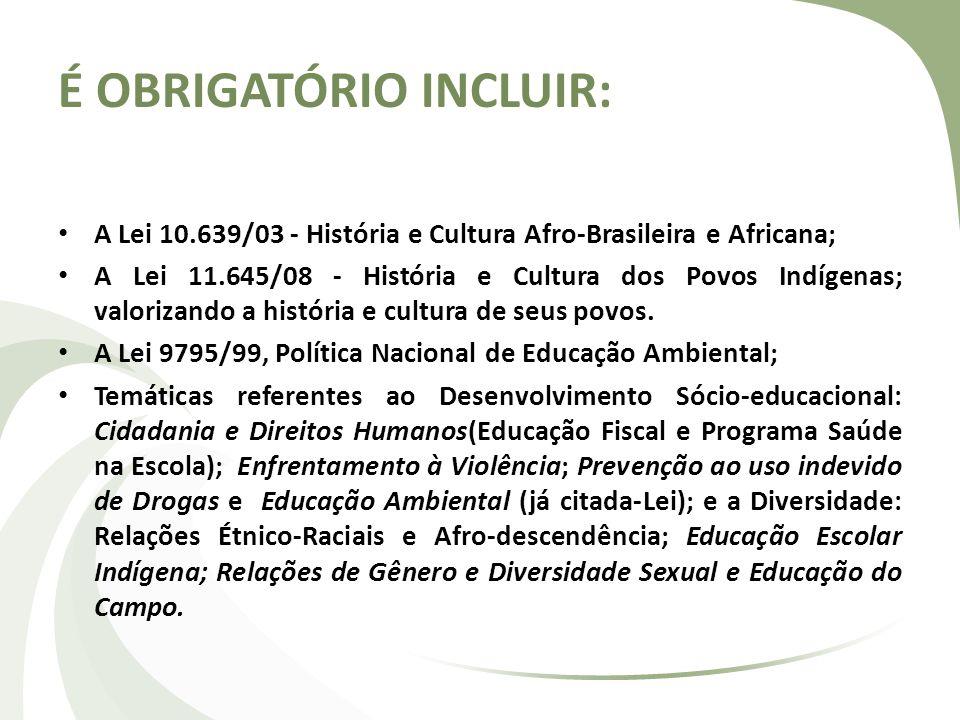 É OBRIGATÓRIO INCLUIR: