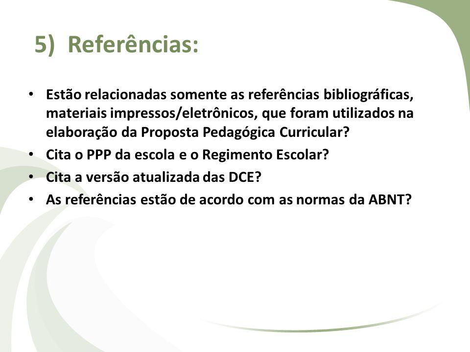 5) Referências: