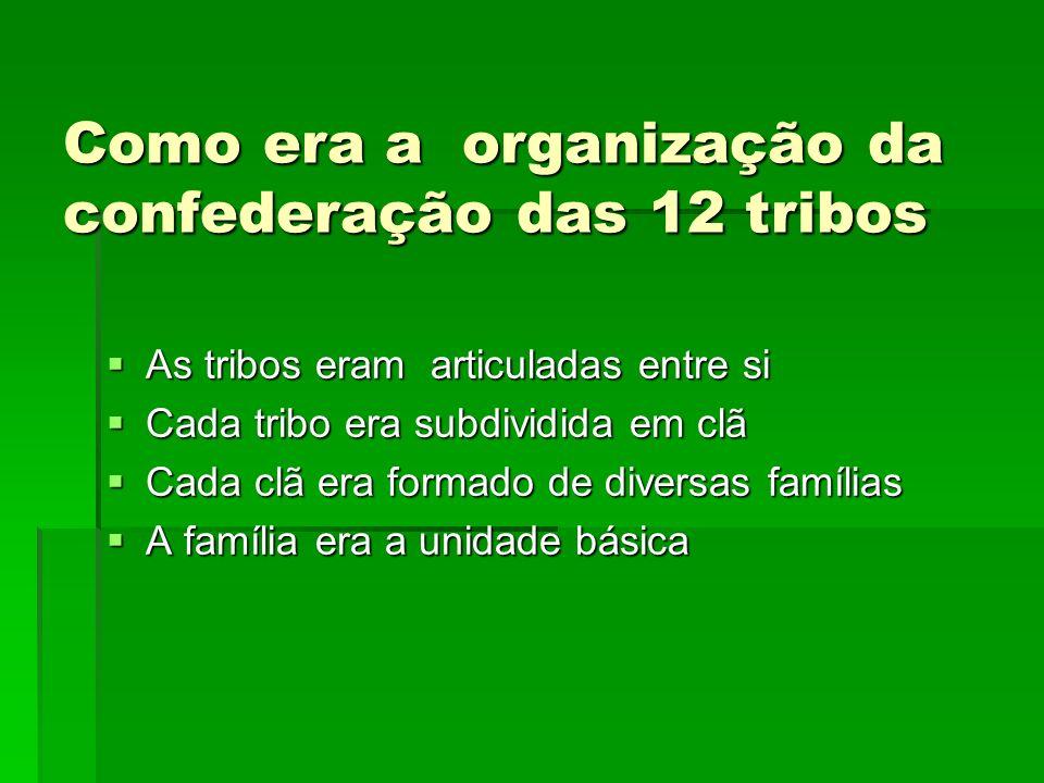 Como era a organização da confederação das 12 tribos