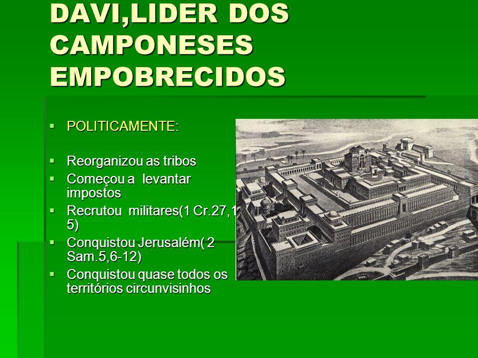 DAVI,LIDER DOS CAMPONESES EMPOBRECIDOS