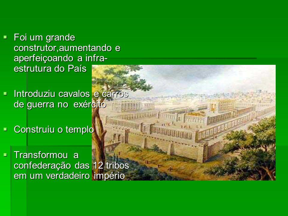 Foi um grande construtor,aumentando e aperfeiçoando a infra-estrutura do País