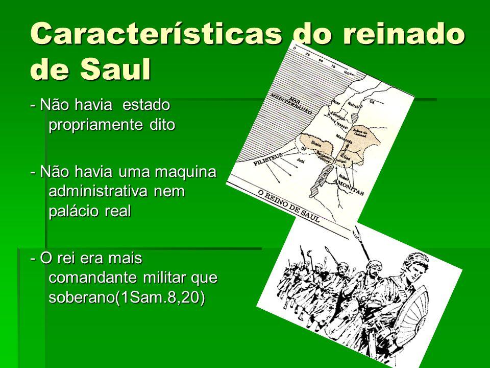 Características do reinado de Saul
