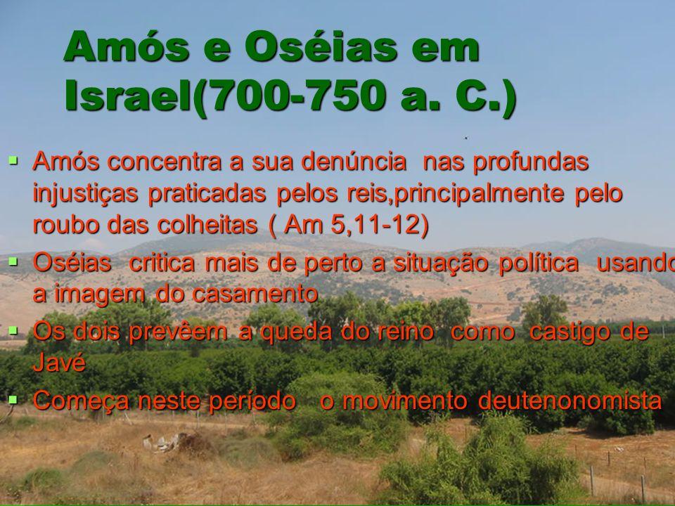 Amós e Oséias em Israel(700-750 a. C.)