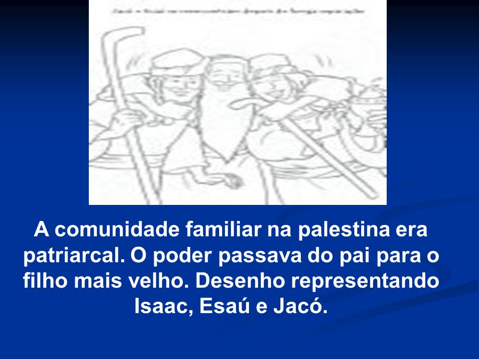 A comunidade familiar na palestina era patriarcal