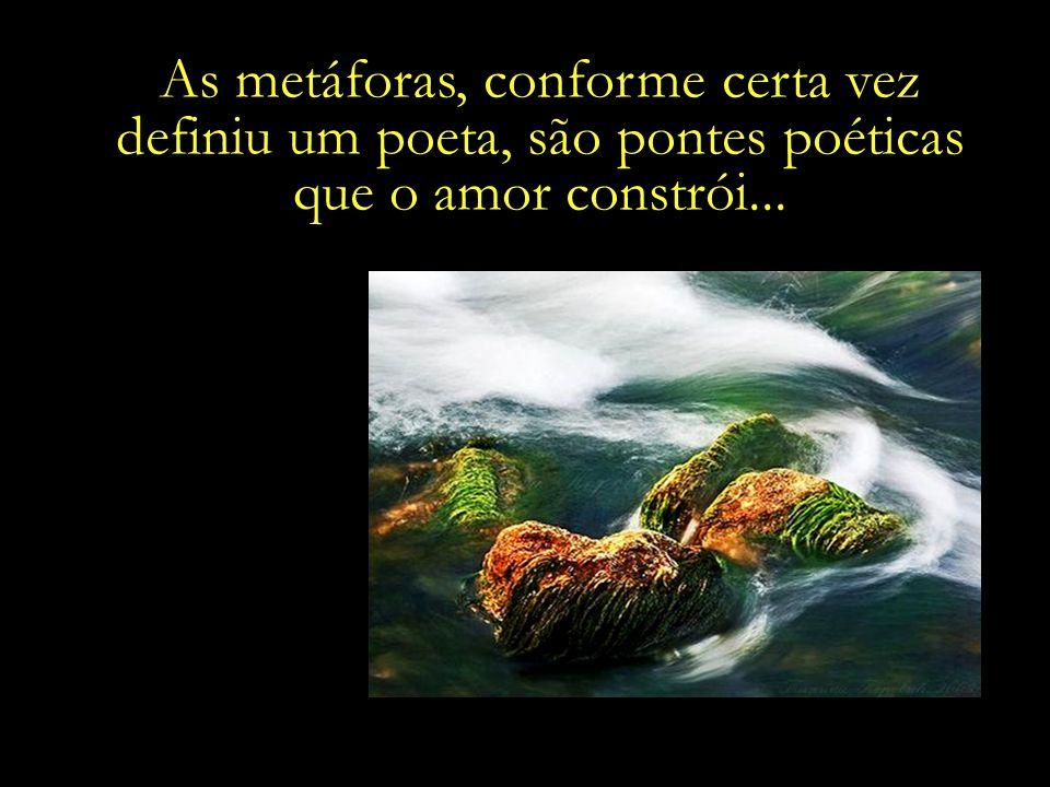 As metáforas, conforme certa vez definiu um poeta, são pontes poéticas