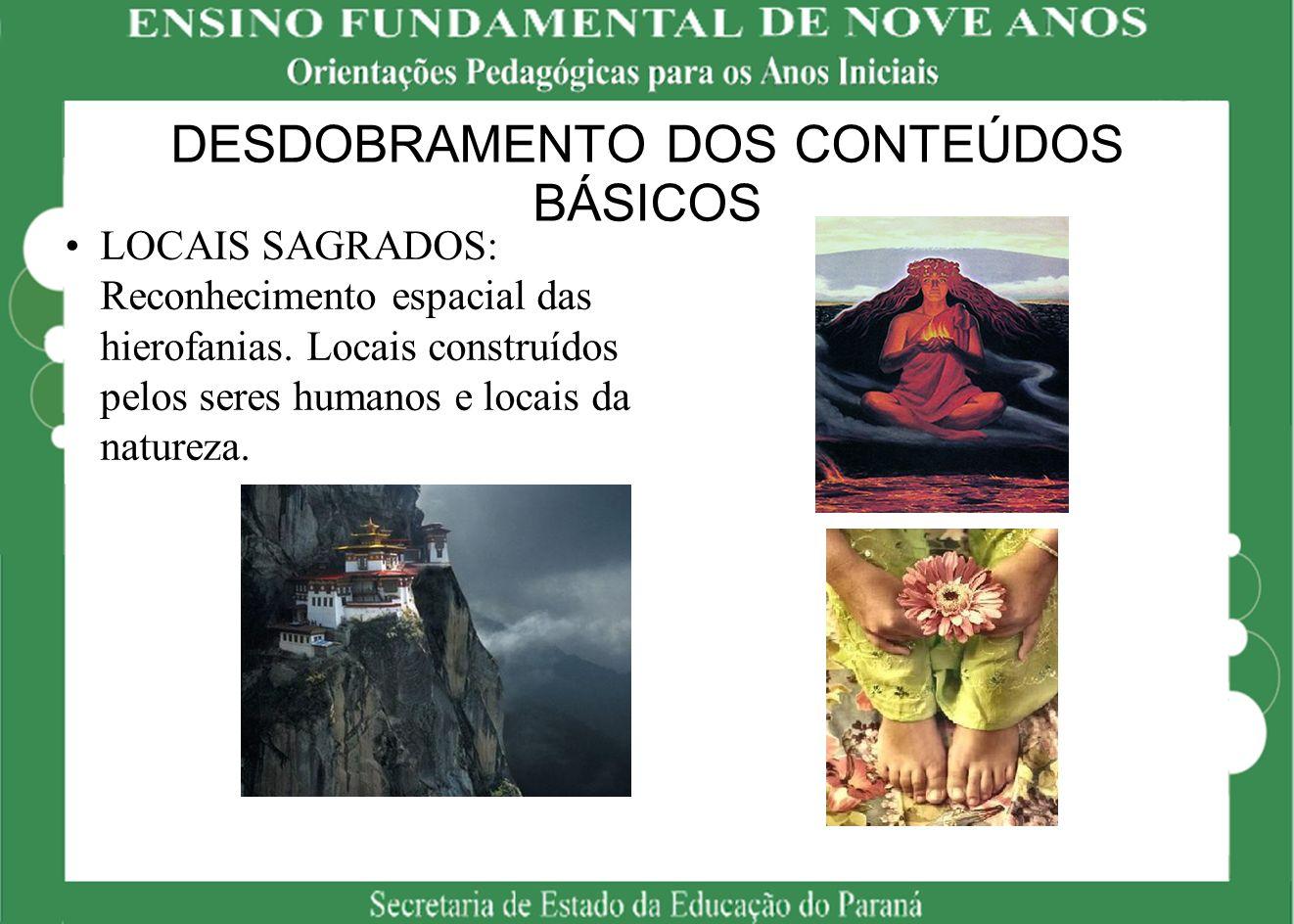DESDOBRAMENTO DOS CONTEÚDOS BÁSICOS