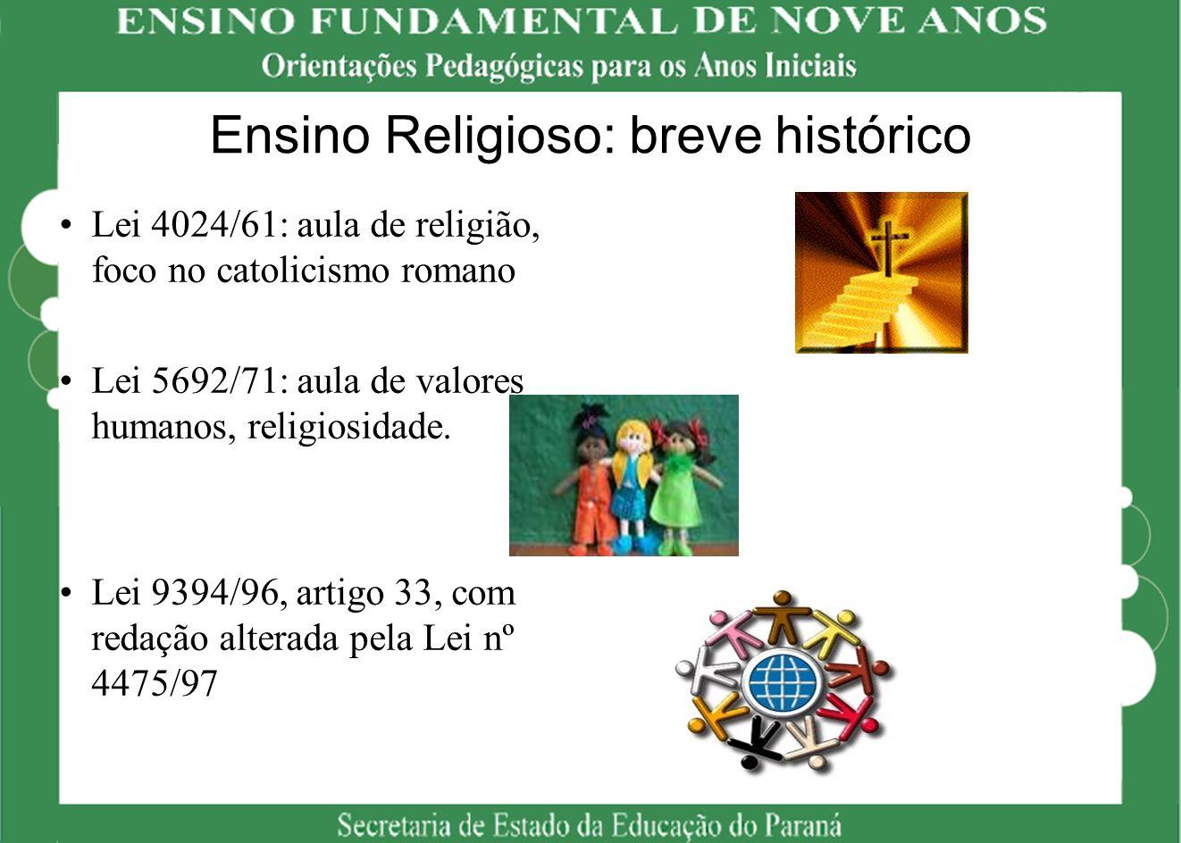 Ensino Religioso: breve histórico