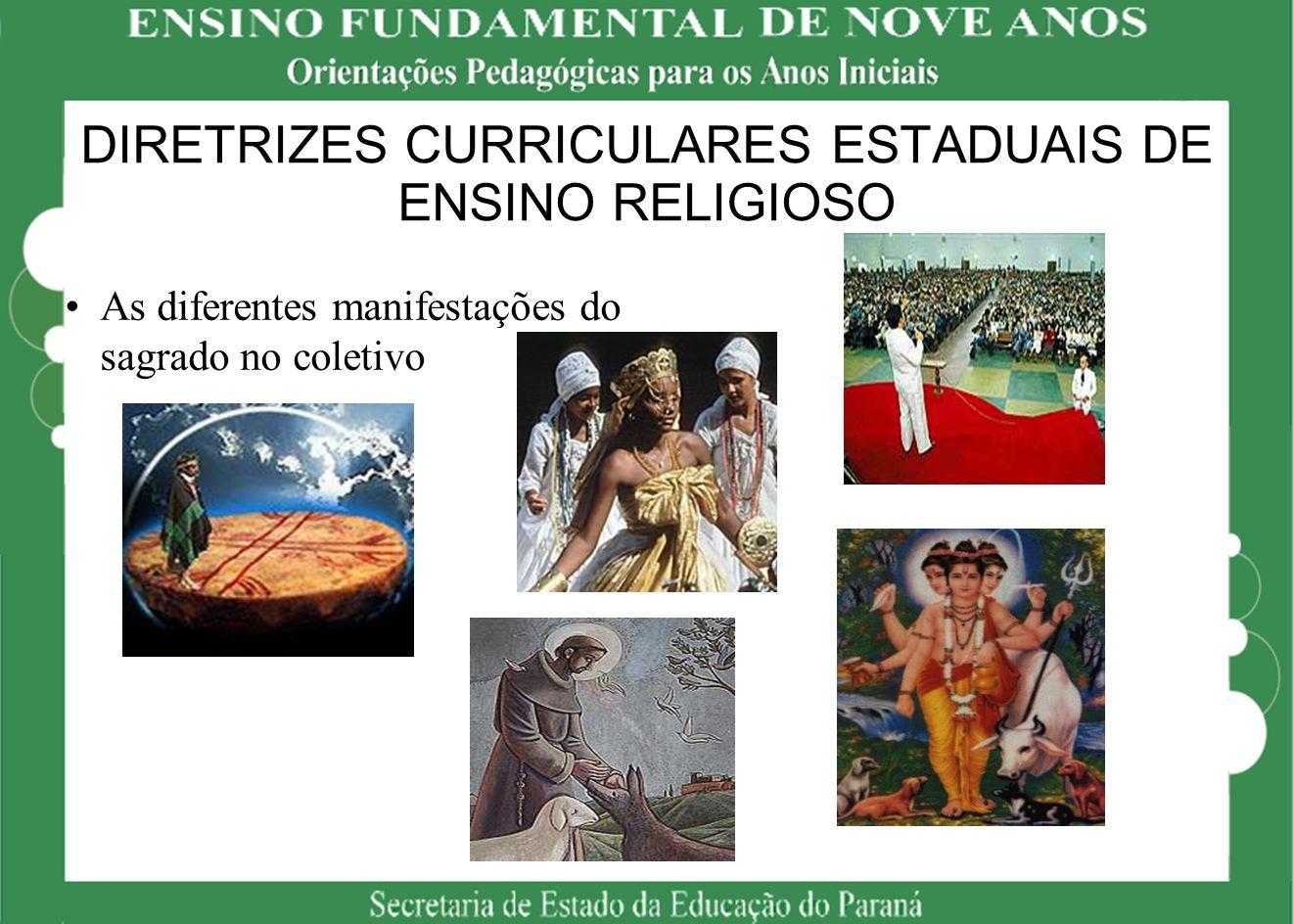 DIRETRIZES CURRICULARES ESTADUAIS DE ENSINO RELIGIOSO
