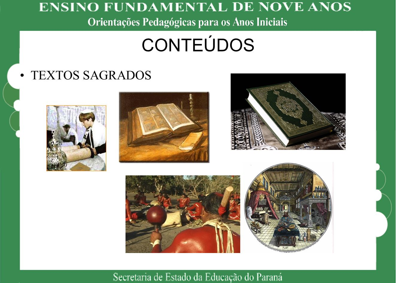 CONTEÚDOS TEXTOS SAGRADOS