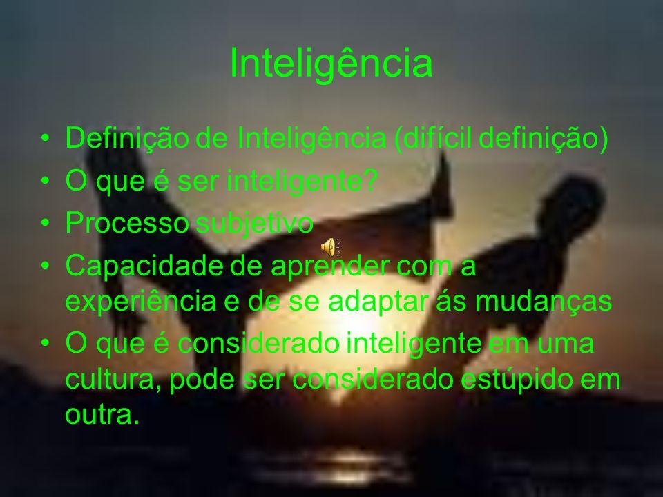 Inteligência Definição de Inteligência (difícil definição)