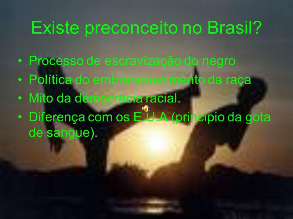 Existe preconceito no Brasil