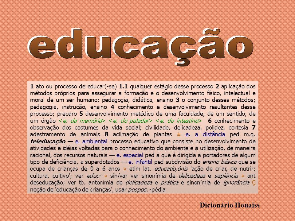 educação Dicionário Houaiss