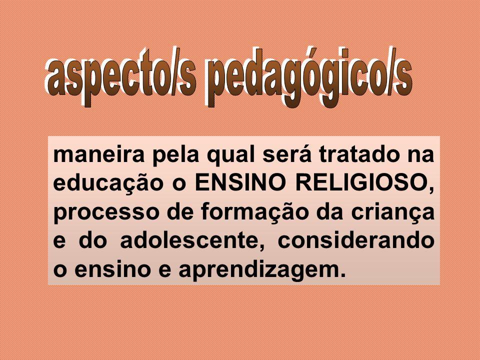 aspecto/s pedagógico/s