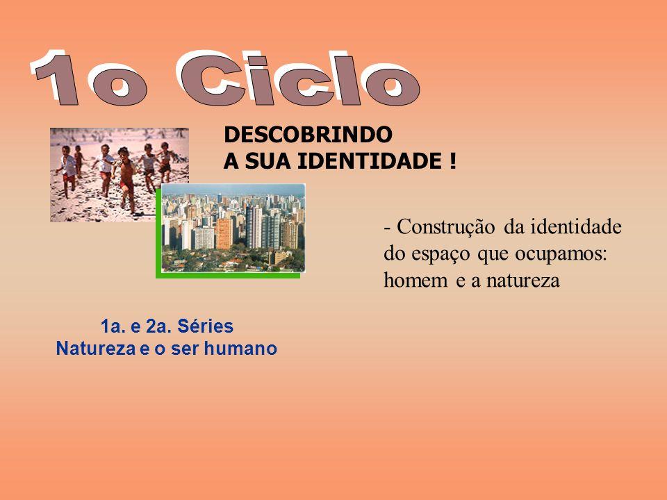 1o Ciclo DESCOBRINDO A SUA IDENTIDADE ! Construção da identidade