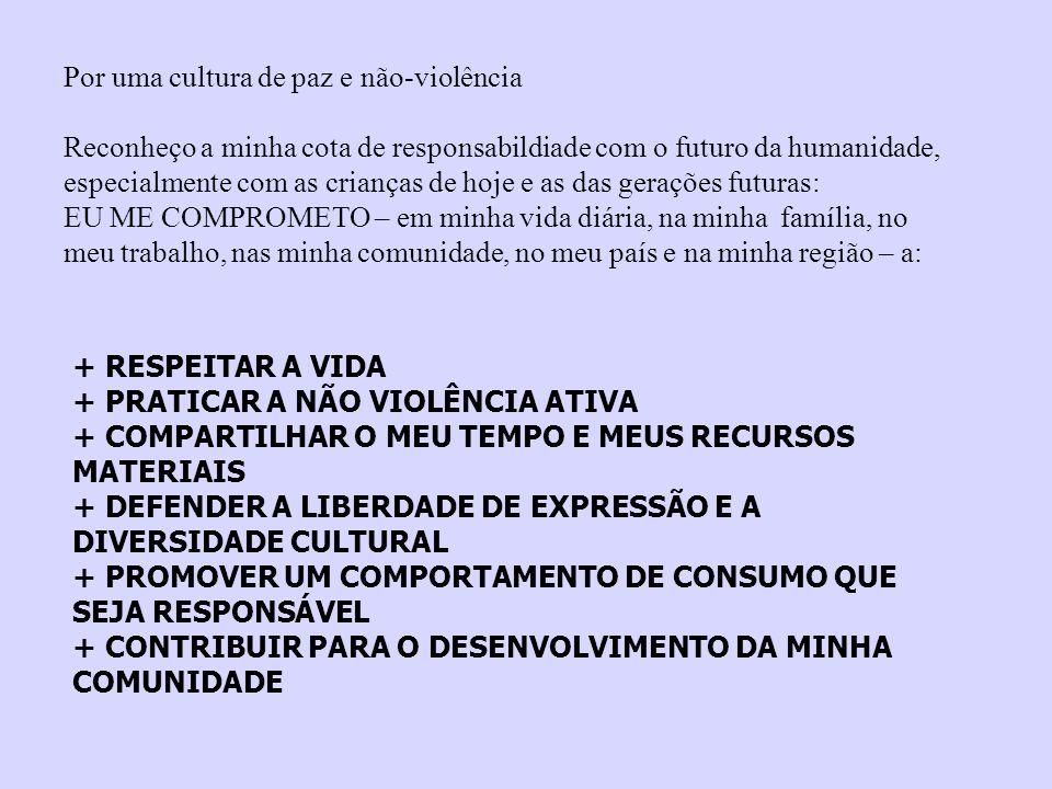Por uma cultura de paz e não-violência