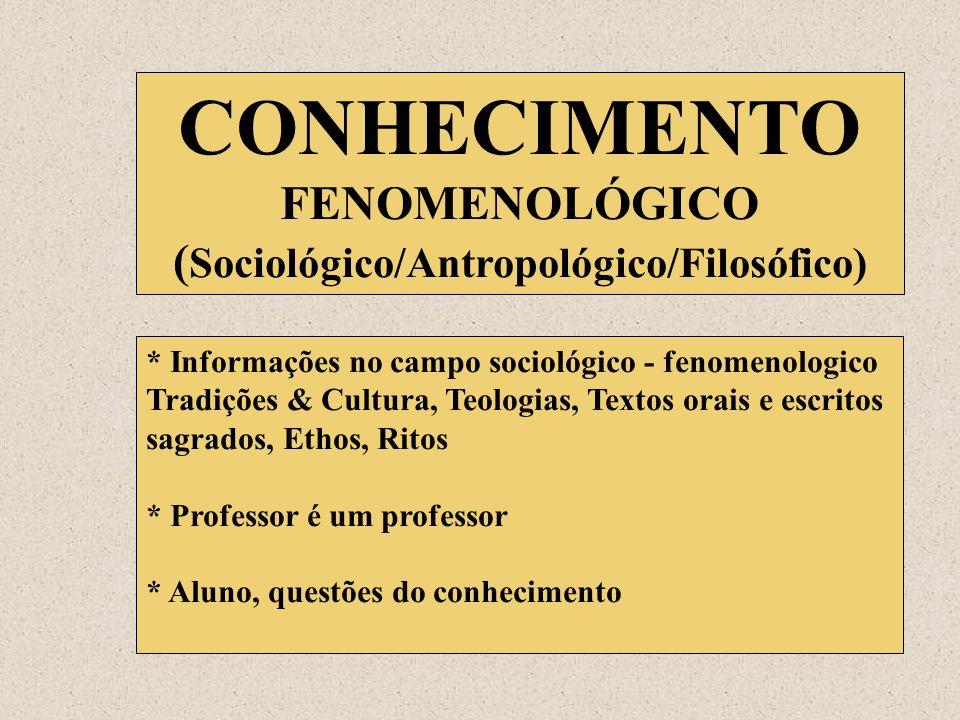 (Sociológico/Antropológico/Filosófico)