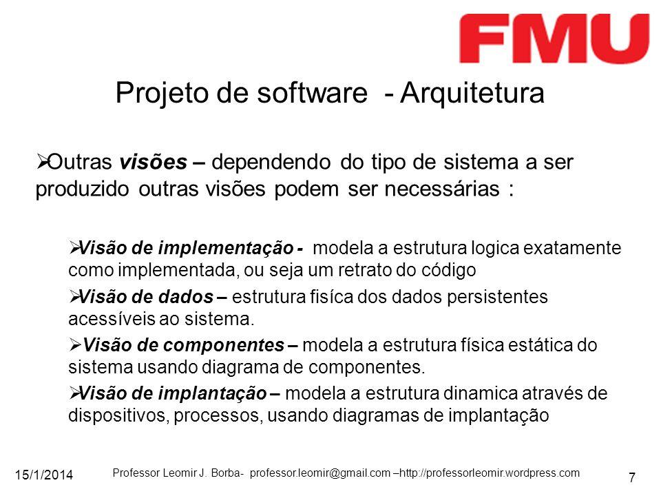 Projeto de software - Arquitetura