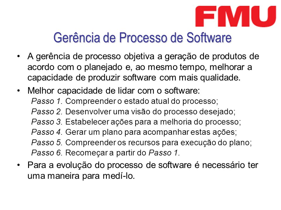 Gerência de Processo de Software