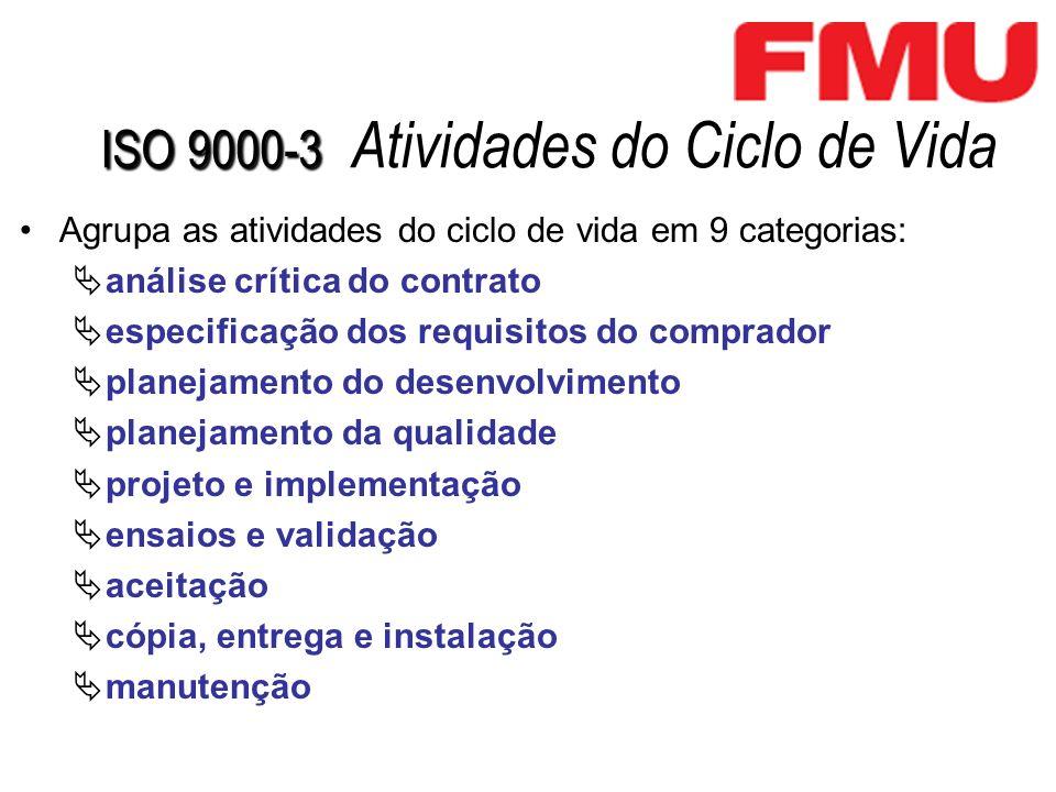 ISO 9000-3 Atividades do Ciclo de Vida